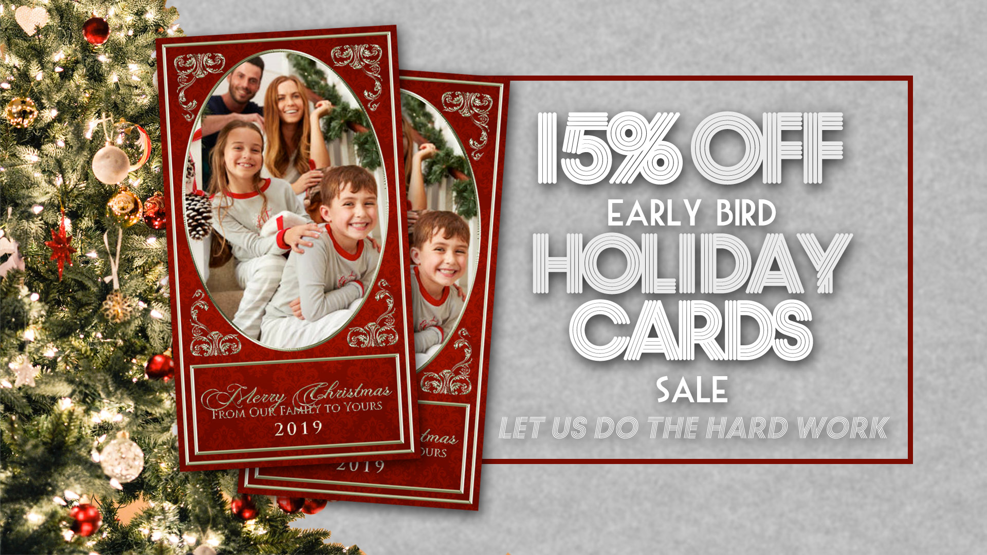 15% OFF Early Bird Holiday Card Sale